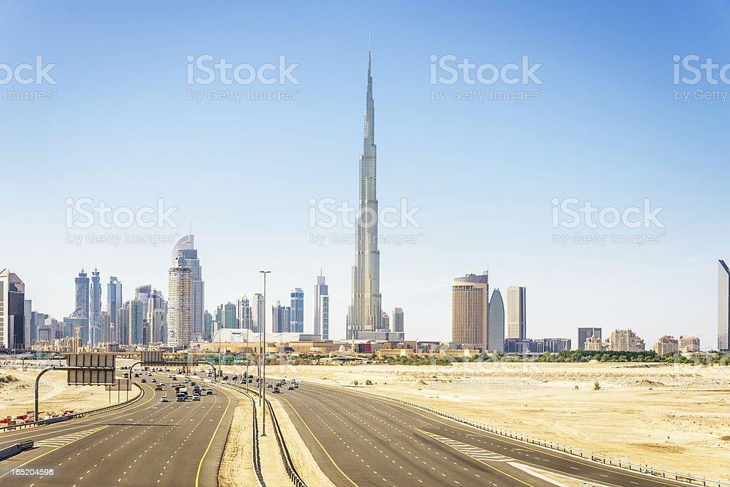 Dubai Skyline Burj Khalifa royalty-free stock photo