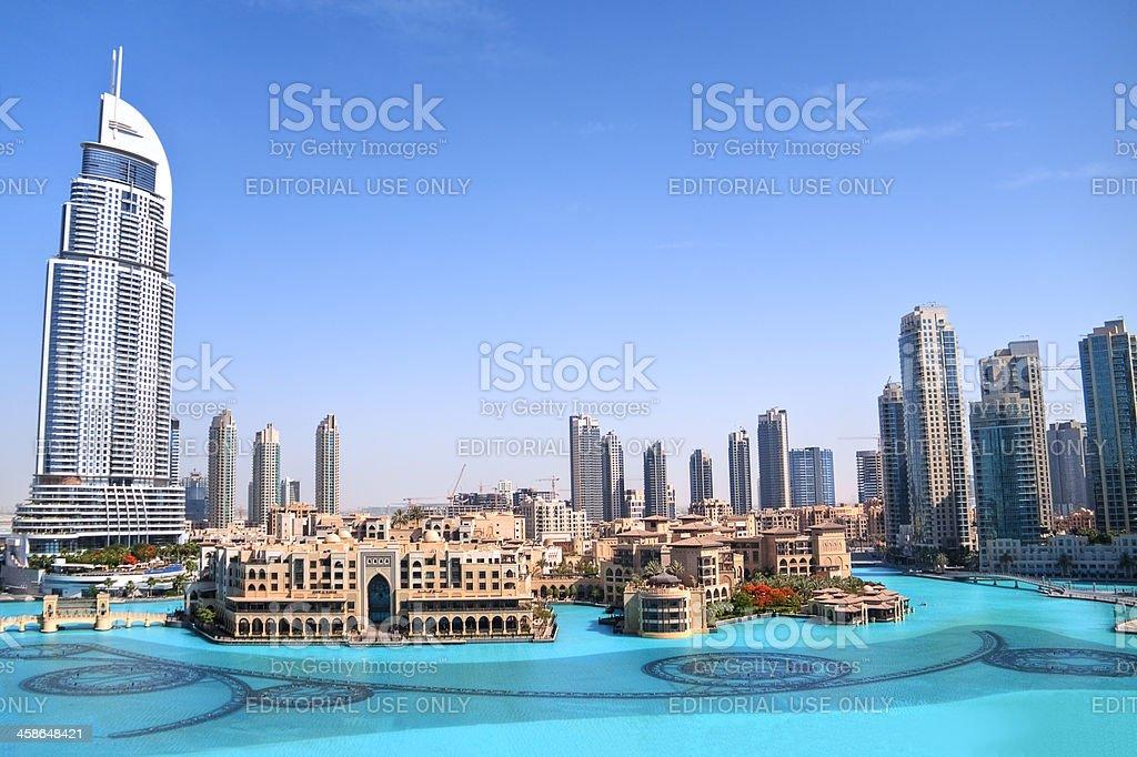 Dubai skyline daytime royalty-free stock photo