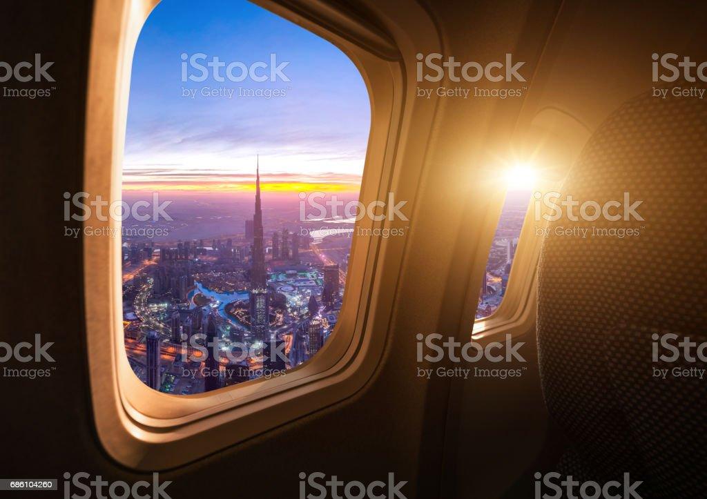 Skyline von Dubai aus dem Flugzeug – Foto