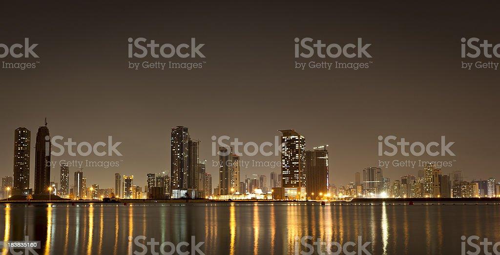 dubai skyline panorama royalty-free stock photo