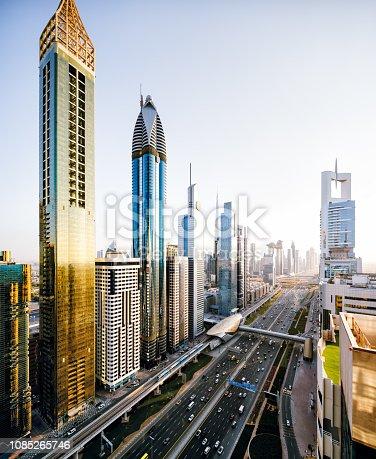 Dubai, Urban Skyline,City, Cityscape, Highway, Sheikh Zayed Road