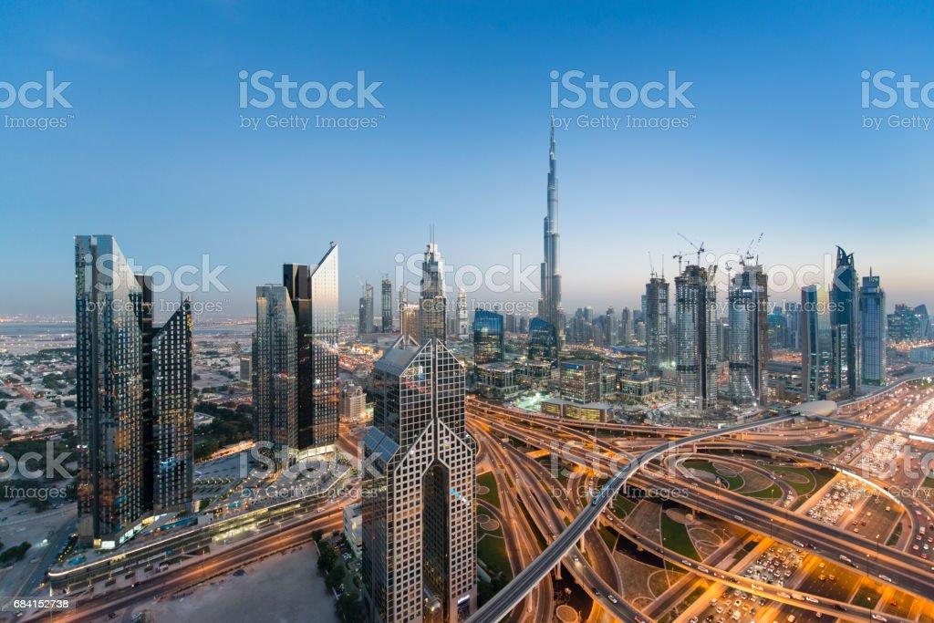 Dubai skyline foto stock royalty-free