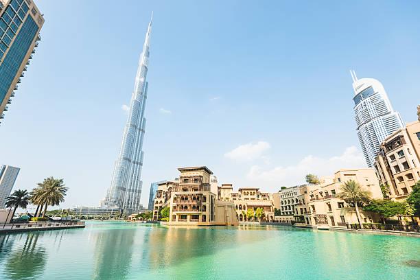 dubai skyline promenade http://bit.ly/1yiBEoi  burj khalifa stock pictures, royalty-free photos & images