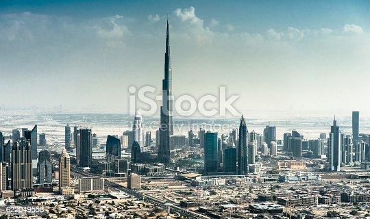 dubai skyline with downtown