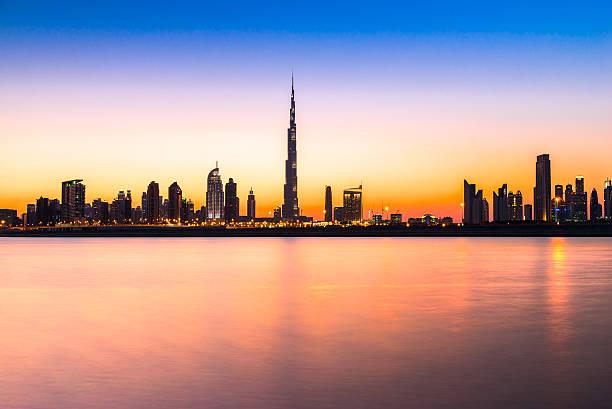 Dubai skyline with the Burj Khalifa. UAE. Dubai skyline with the Burj Khalifa. UAE. burj khalifa stock pictures, royalty-free photos & images