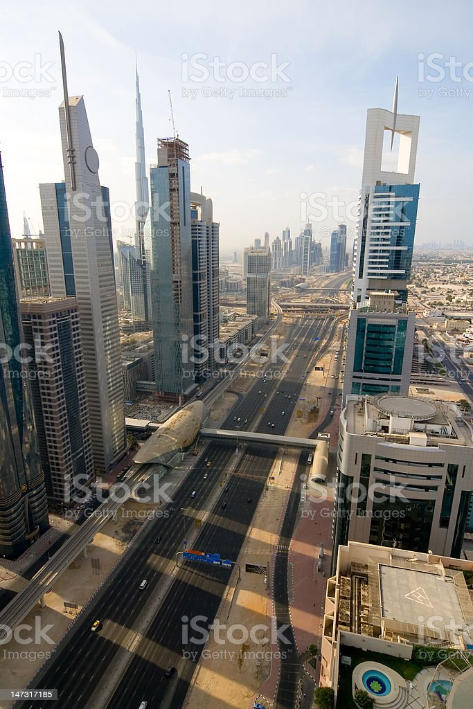 Dubai skyscrapers royalty-free stock photo
