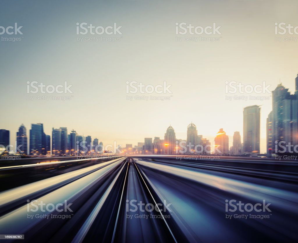 Dubai Speed motion stock photo
