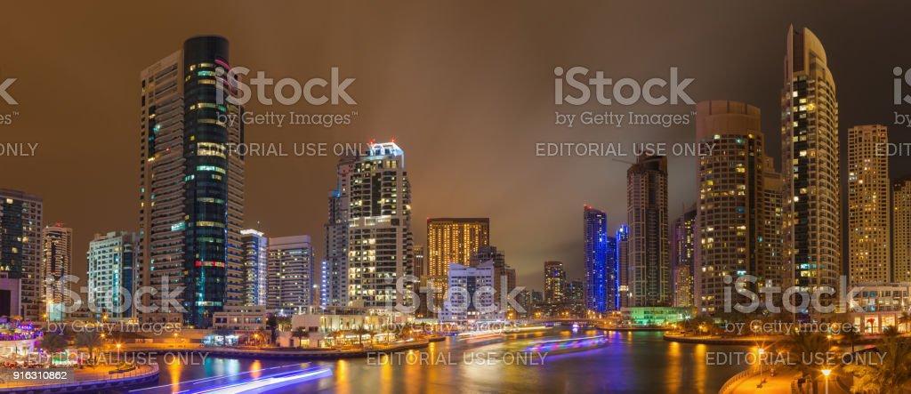 Dubai - The nightly Marina. stock photo