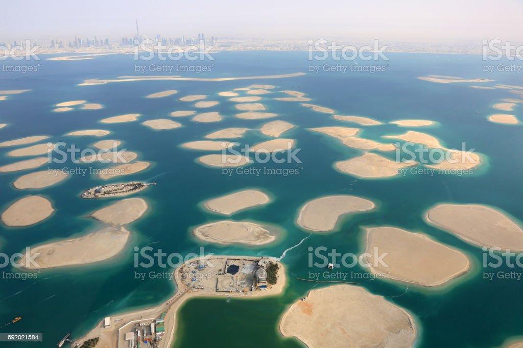 Dubai The World Islands Germany Austria Switzerland France panorama Spain stock photo