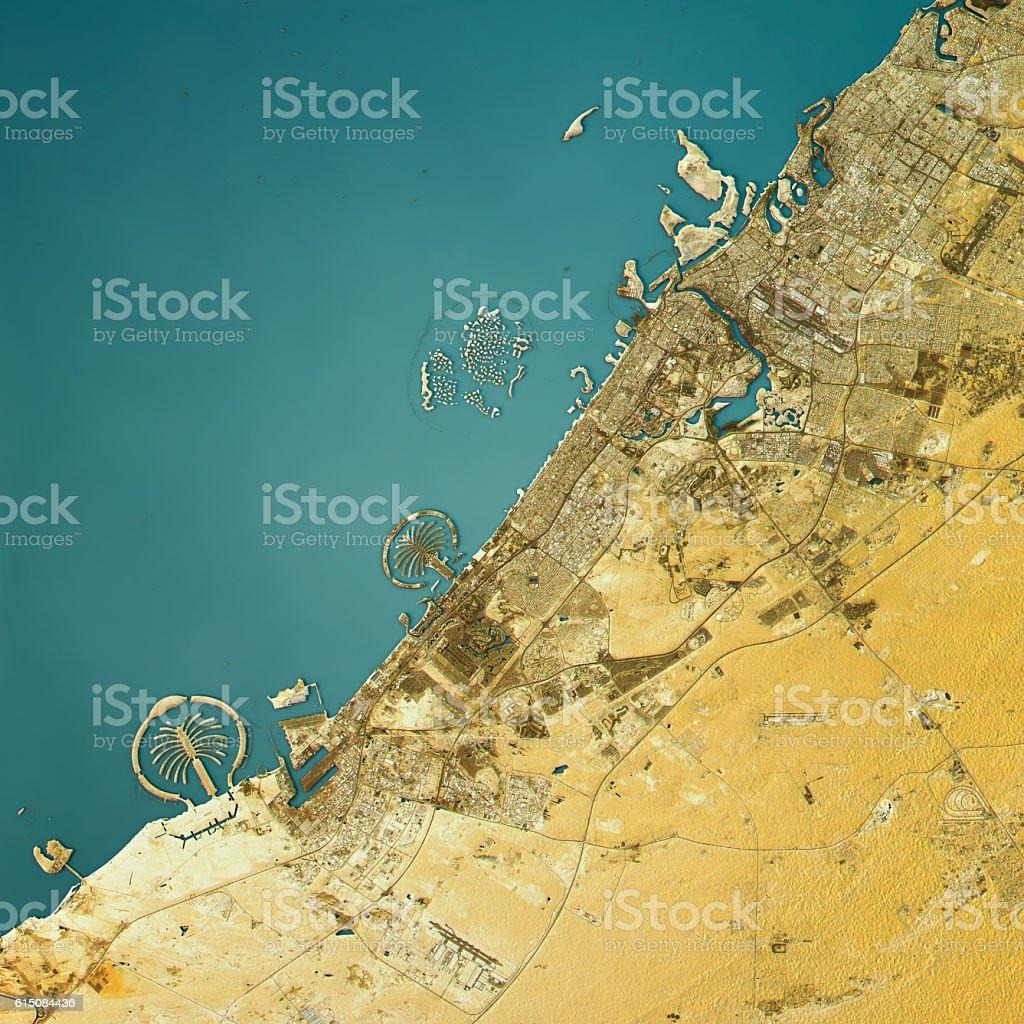 Dubai topographic map natural color top view stock photo more dubai topographic map natural color top view royalty free stock photo gumiabroncs Images