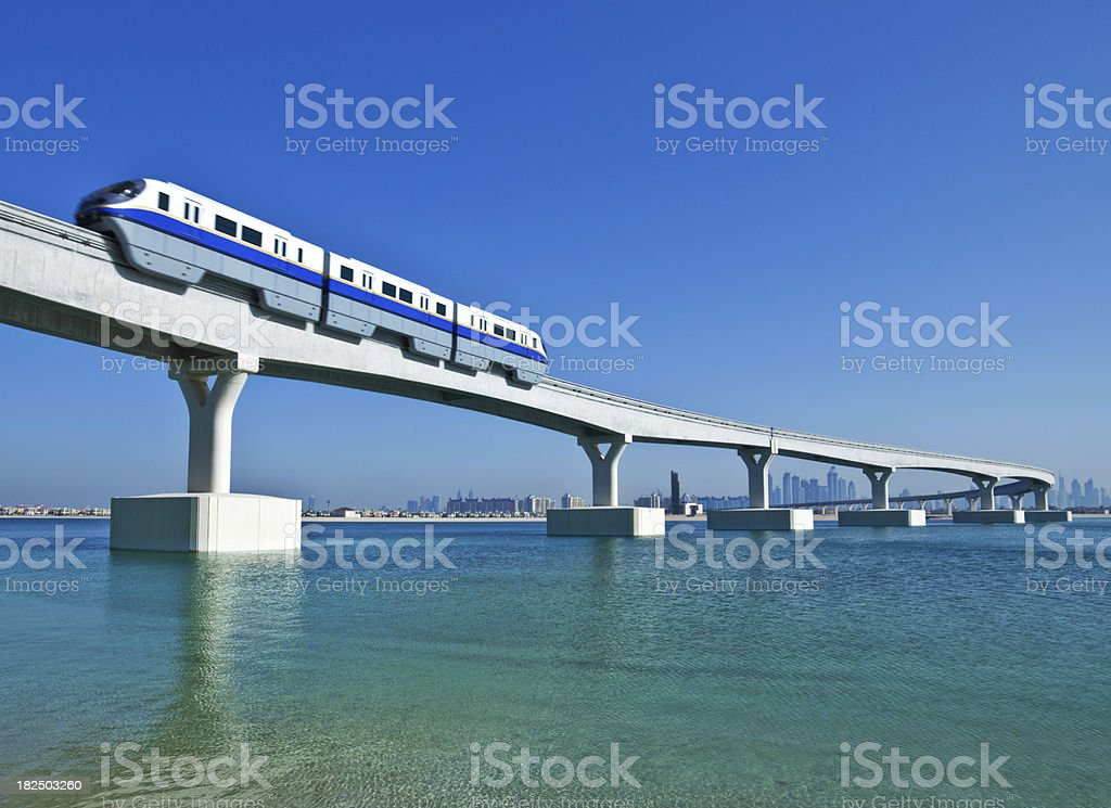 Dubai Train royalty-free stock photo