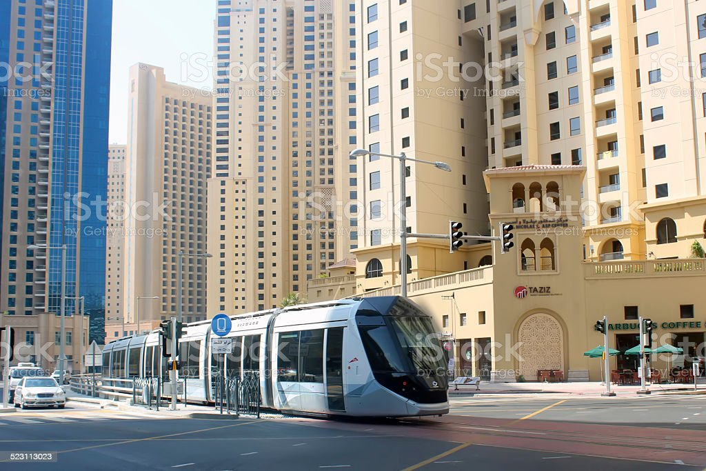 Dubai Tramway stock photo