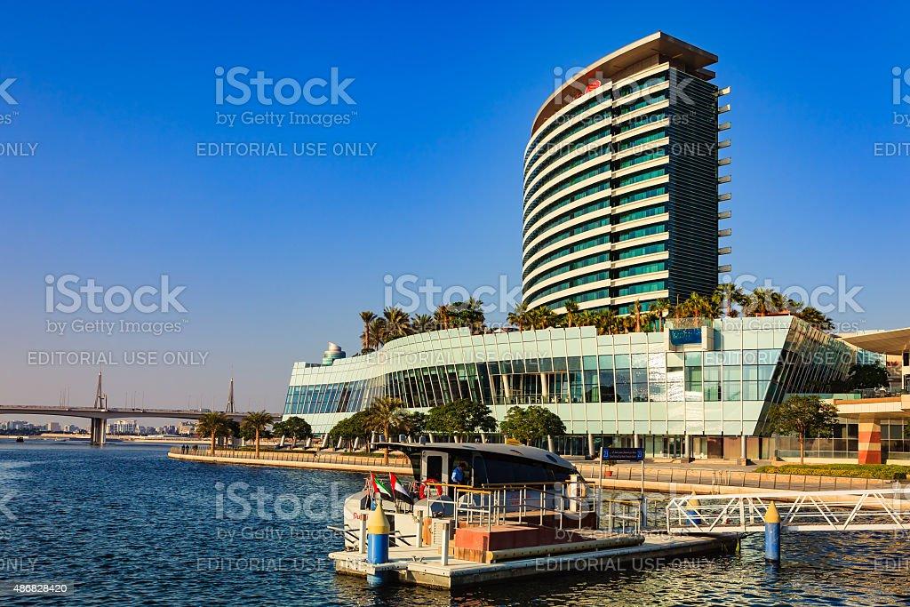 Dubai, UAE - Crowne Plaza Hotel in Festival City stock photo