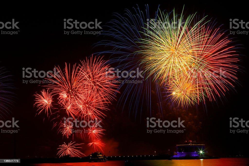 Dubai, UAE - New Year Fireworks celebration stock photo