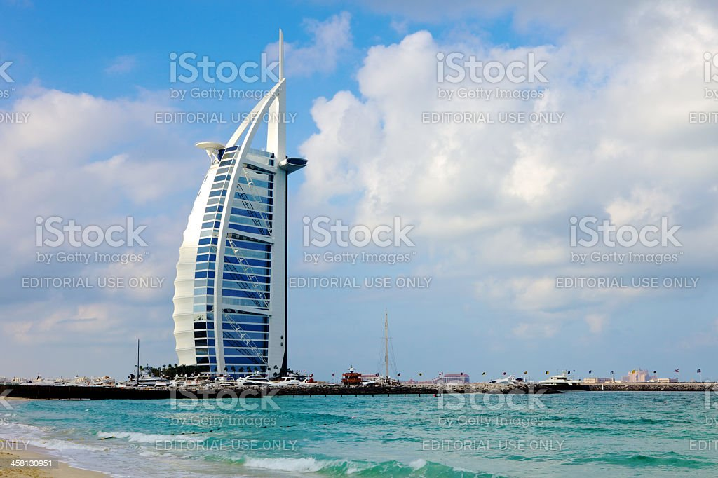 Burj Al Arab Hotel, Dubai, UNited Arab Emirates stock photo
