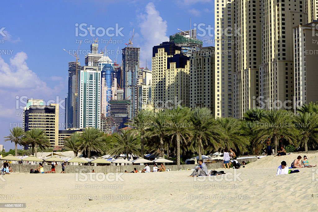Dubai, UAE - Umm Suqeim Beach royalty-free stock photo