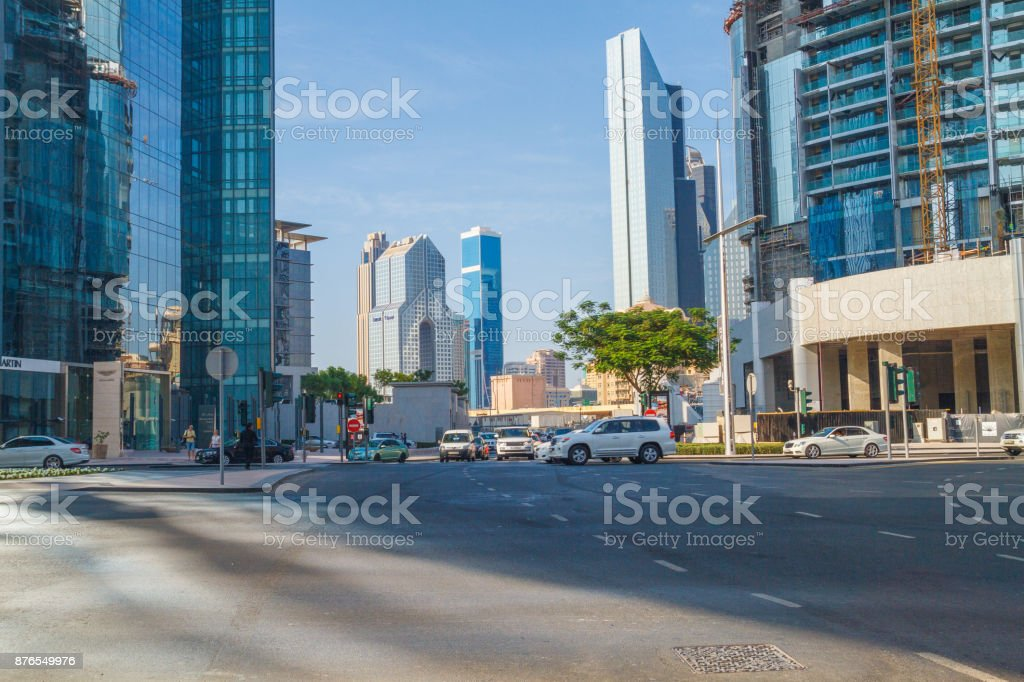 Dubai, UAE, Urban view, Skylines and city view. 2015 stock photo