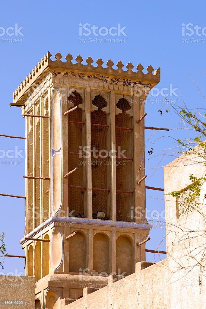 Dubai, UAE - Wind Tower royalty-free stock photo