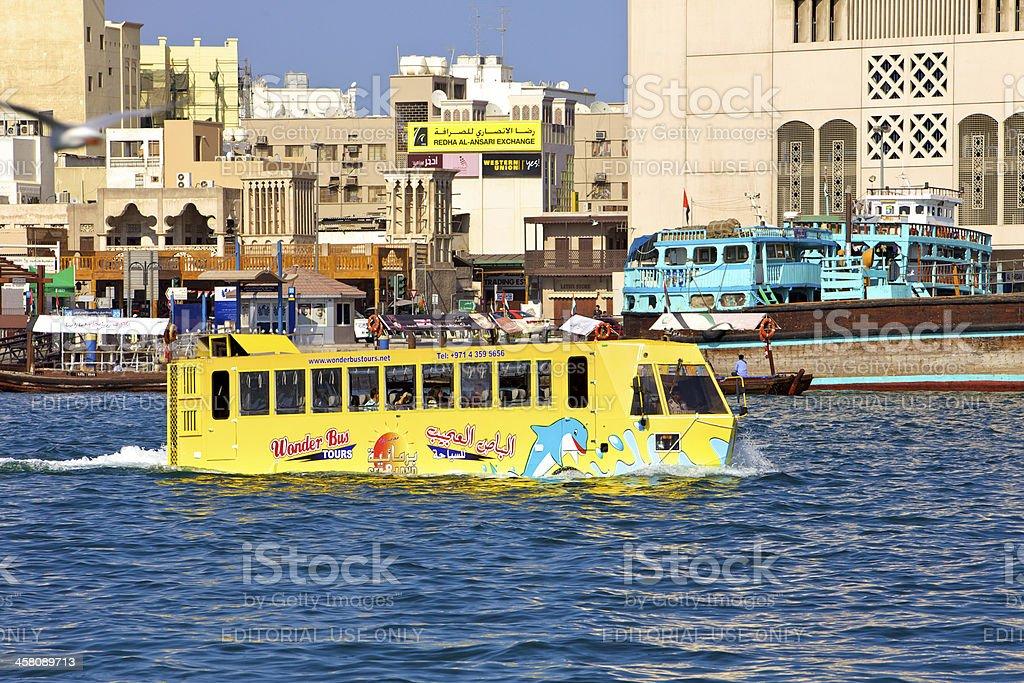 Dubai, UAE - Wonder Bus Tour stock photo