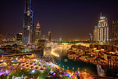 istock Dubai, United Arab Emirates - January 30, 2019 - Night view of Burj Khalifa - the highest building in the world - and lights reflection on the water. 1130891293