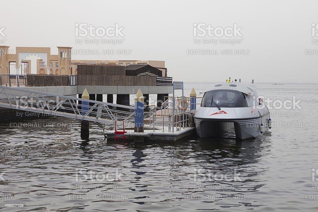 Dubai Water Taxi stock photo