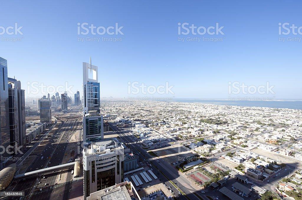 Dubai Winter morning stock photo