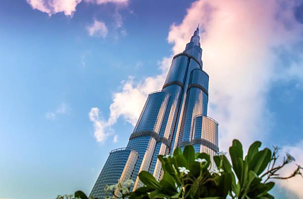 Dubai's Burj Khalifa Dubai, UAE - December 1, 2011: Majestic Burj Khalifa at downtown Dubai. At the time of photographing, the tallest building in the world. burj khalifa stock pictures, royalty-free photos & images