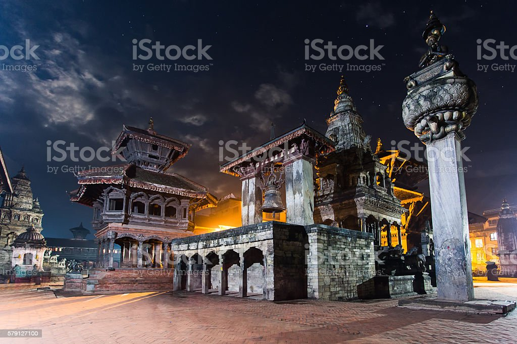 Dubar nightview stock photo