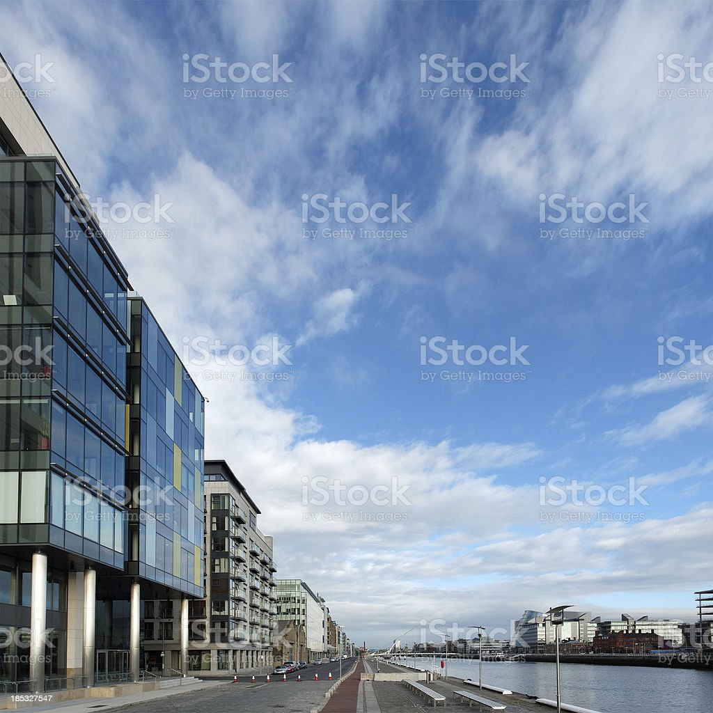 Dublin and river Liffey royalty-free stock photo