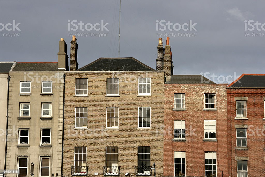 Dublin buildings royalty-free stock photo
