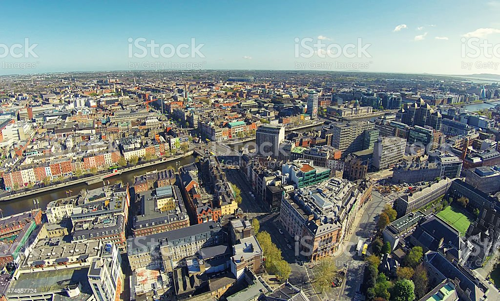 Dublin city center stock photo