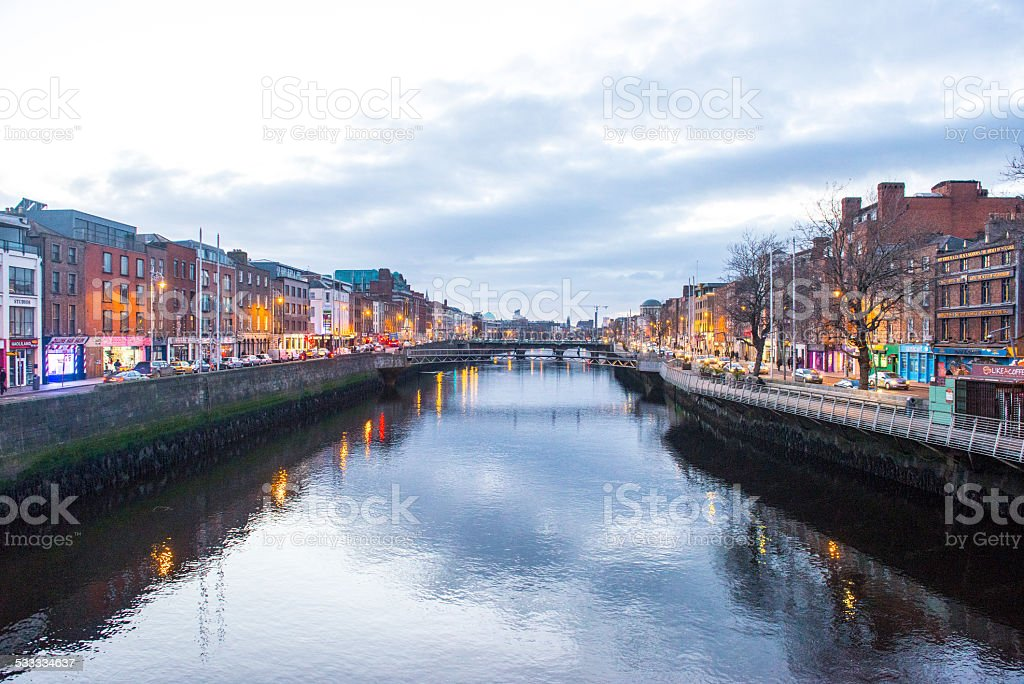 Dublin city centre stock photo