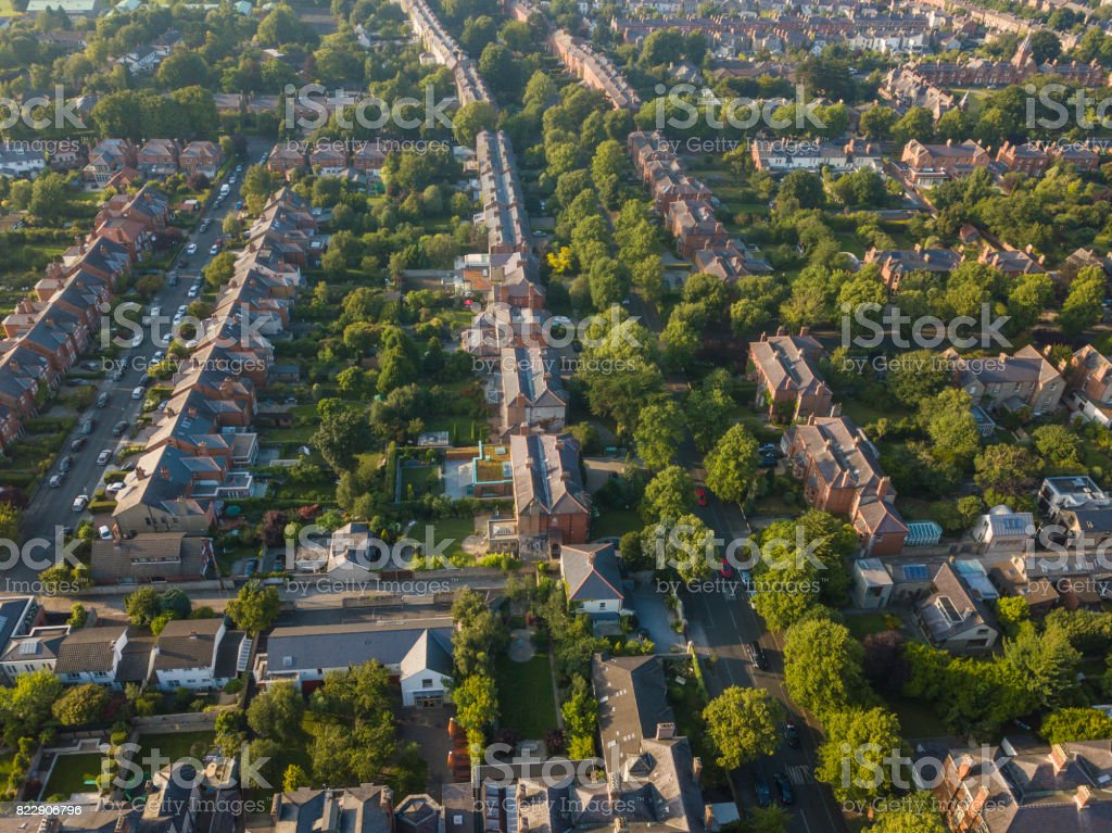 Dublin city from above royalty-free stock photo