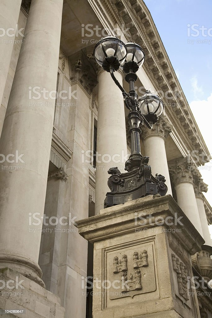 dublin city hall front picture royalty-free stock photo