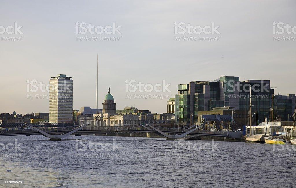 Dublin City stock photo