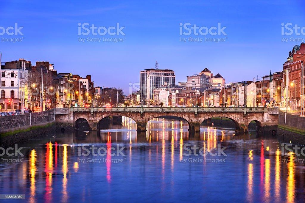 Dublin city skyline stock photo