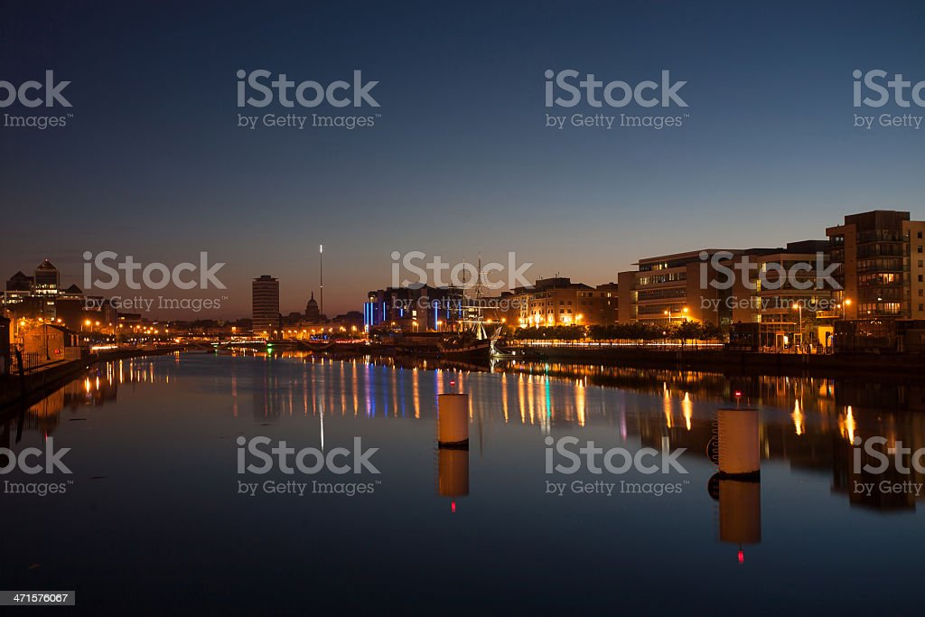 Dublin Cityscape at Twilight, Ireland royalty-free stock photo
