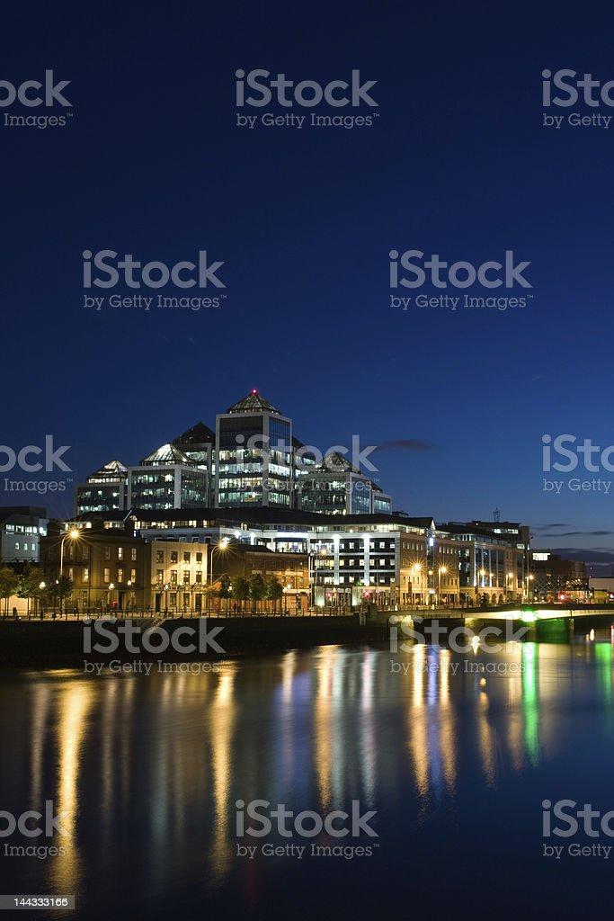 Dublin Docklands at Night stock photo
