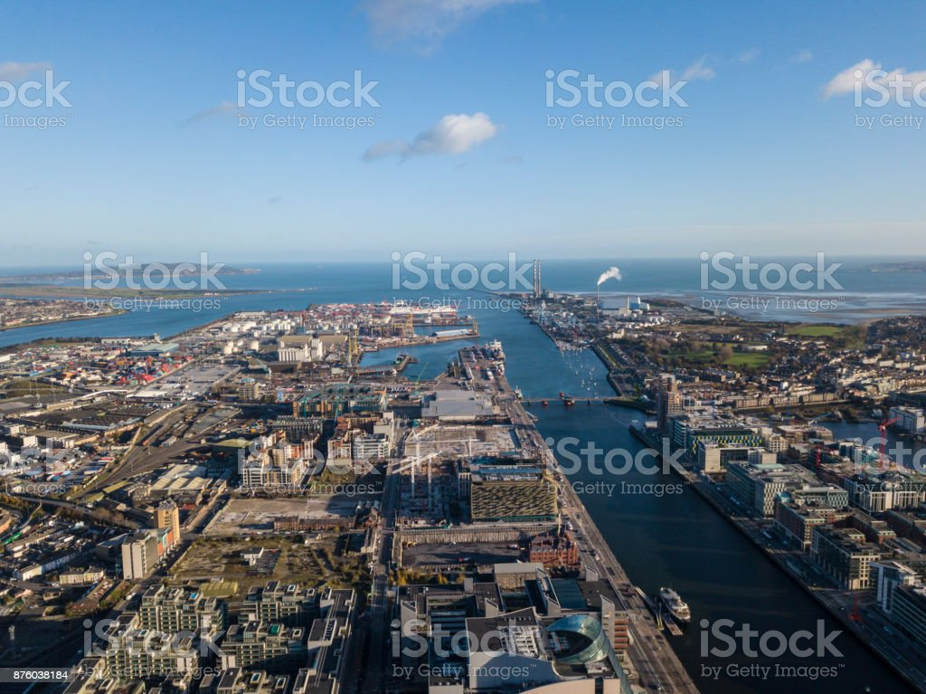Dublin from above royalty-free stock photo