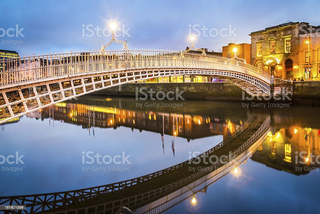 Dublin Ha'penny Bridge, Ireland stock photo