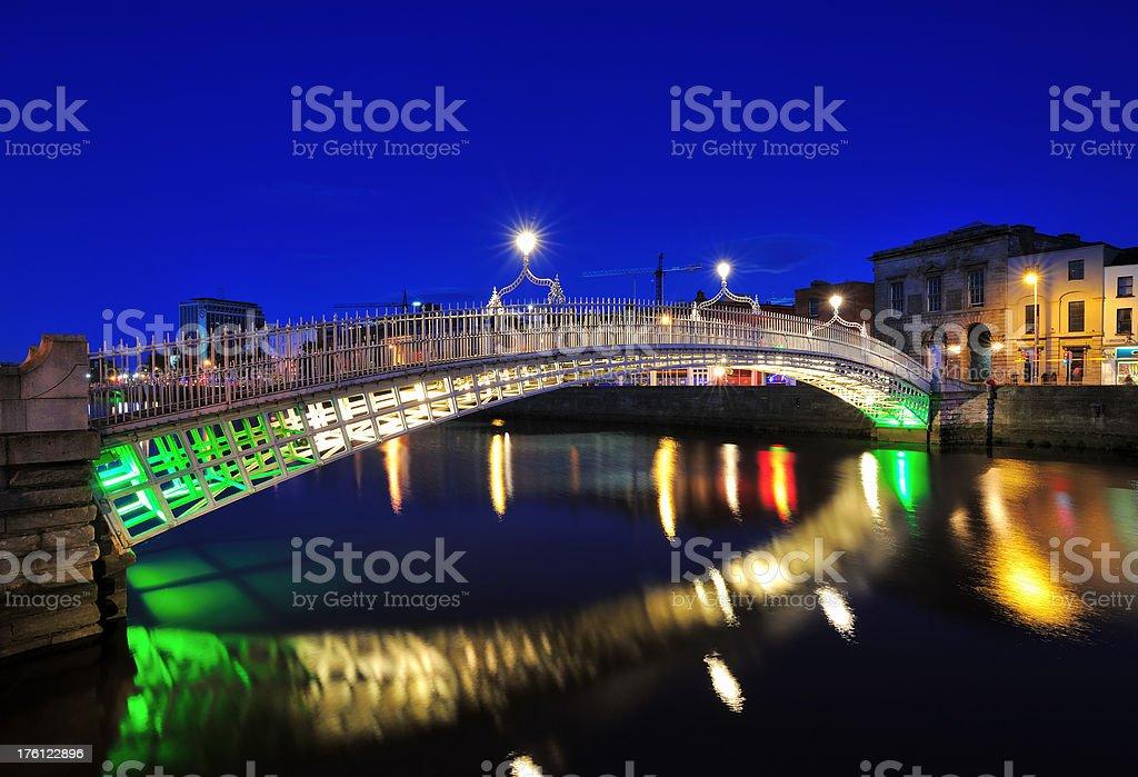 dublin, ha`penny bridge royalty-free stock photo