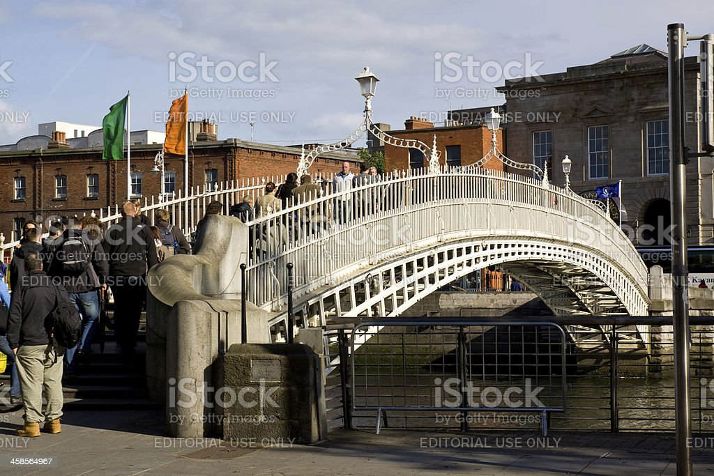 Dublin Ha'Penny Bridge stock photo