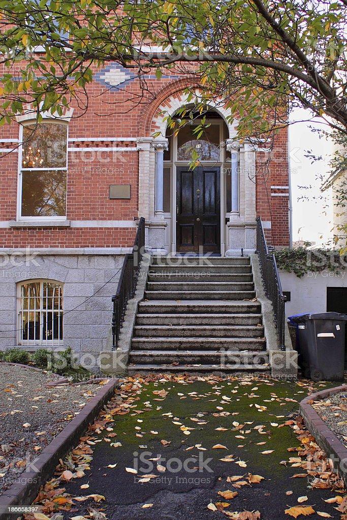 Dublin house in autumn royalty-free stock photo