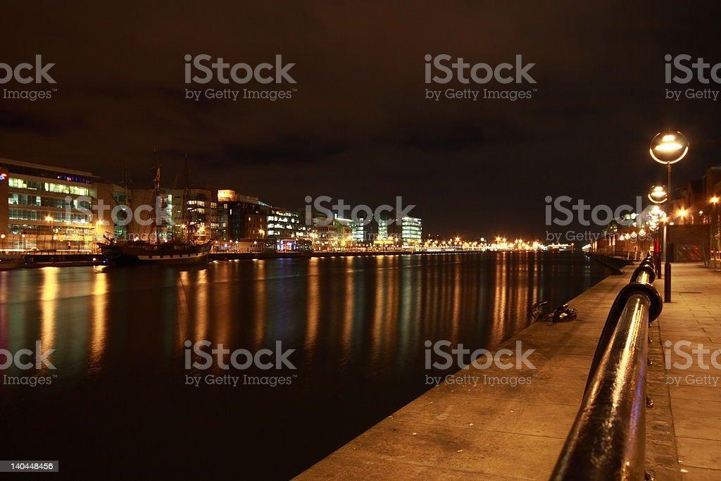 Dublin IFSC at Night stock photo