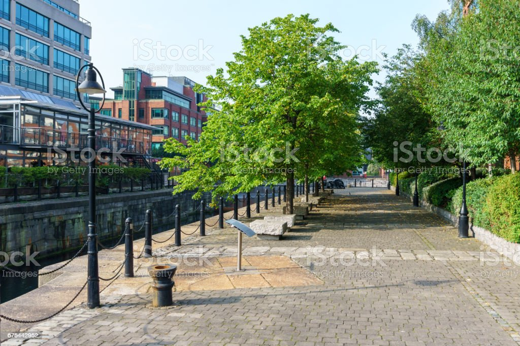 Dublin Leinster street - Ireland stock photo