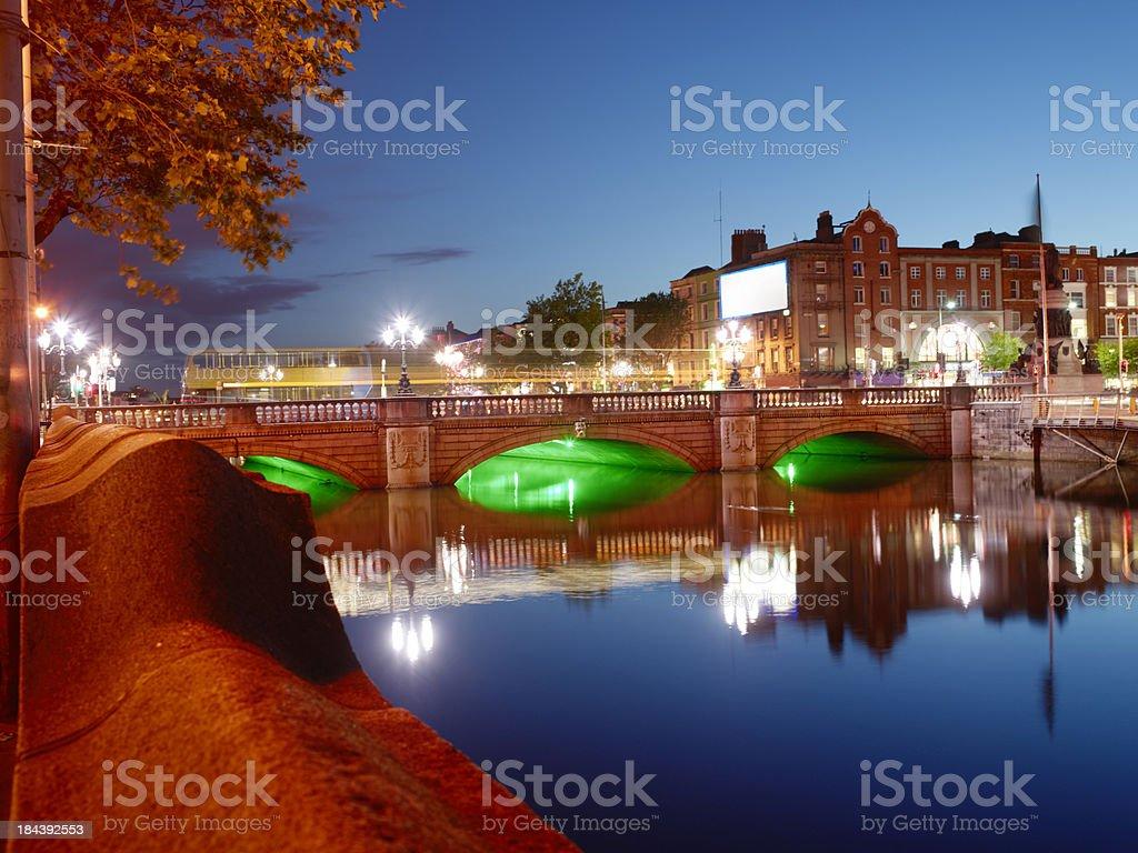 Dublin OConnel Bridge royalty-free stock photo