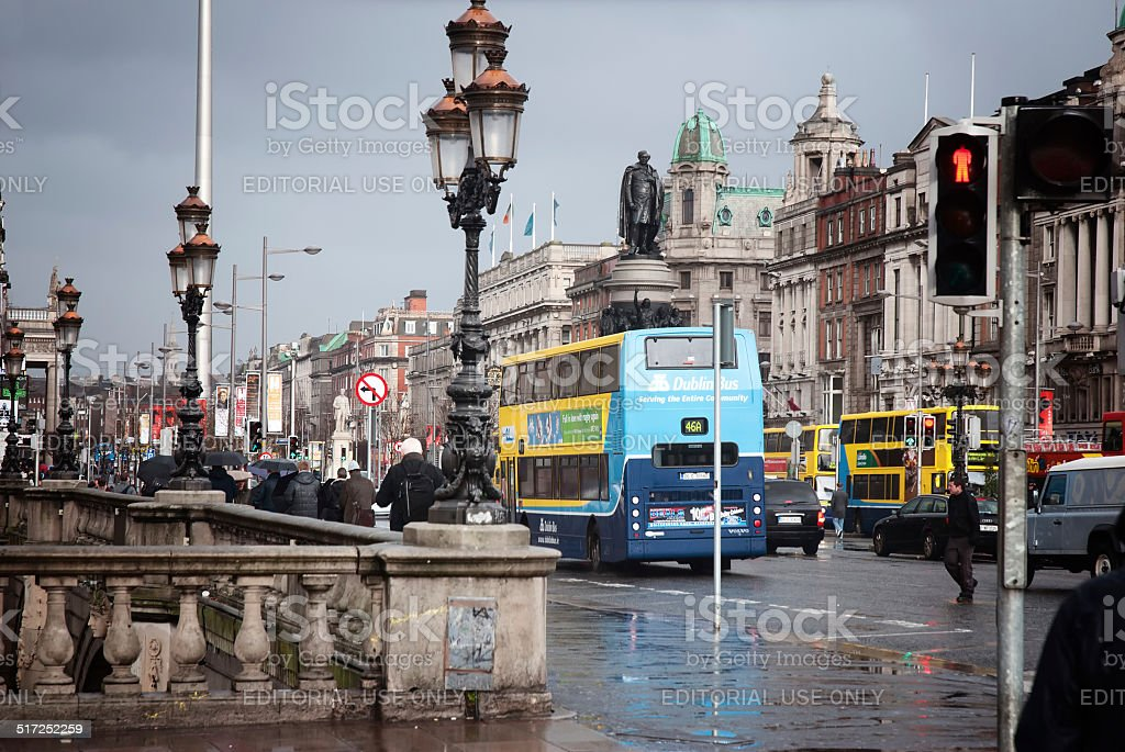 Dublin, O'Connell Street stock photo