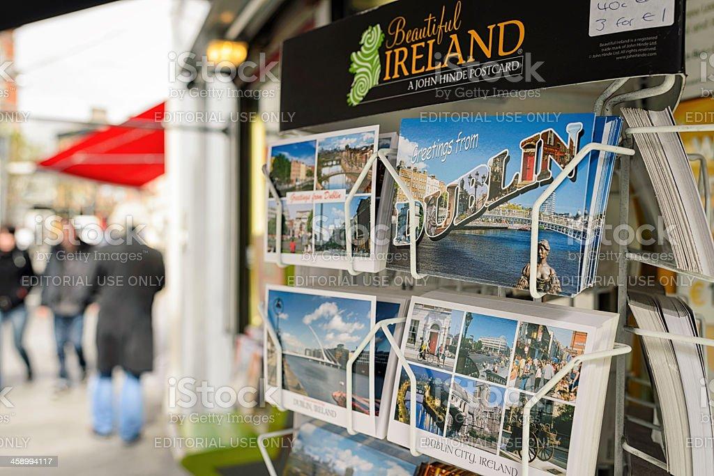 Dublin Postcards On The Street royalty-free stock photo