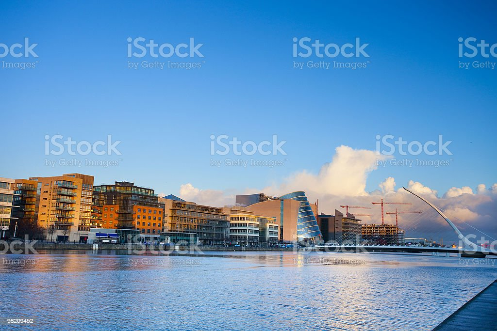 Dublin quay royalty-free stock photo