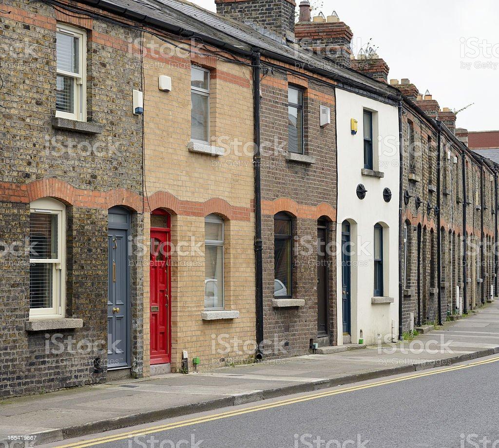 Dublin Residential Street royalty-free stock photo